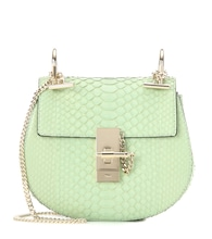 Drew Mini snakeskin shoulder bag