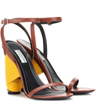 Bistrot leather sandals