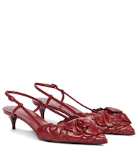 Valentino Garavani Atelier 03 Rose Edition leather slingback pumps