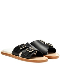 Bibbi leather slip-on sandals