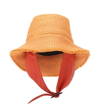 Exclusive to Mytheresa – Buckle raffia hat