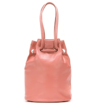 Medium leather bucket bag