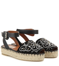 Valentino Garavani Embellished suede and leather sandals