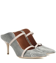 Mules Maureen 85 in pelle di serpente