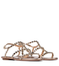 Exclusive to Mytheresa – Tequila embellished leather sandals