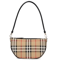 Olympia Pouch checked shoulder bag