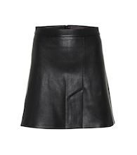 Santa leather miniskirt