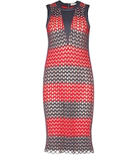 Woven neoprene dress