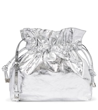 Ailey metallic leather pouch