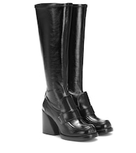 Adelie leather knee-high boots
