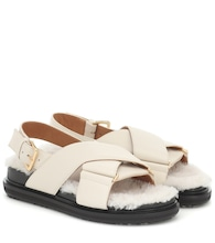 Fussbet shearling and leather sandals