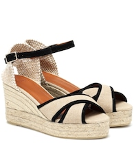 Brity canvas wedge espadrilles