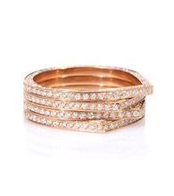 Bague en or rose 18 ct et diamants blancs Antifer