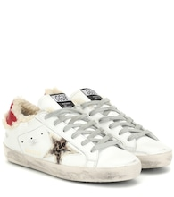 Sneakers Superstar aus Leder