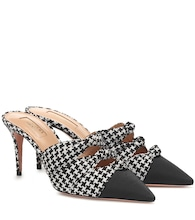 Mondaine houndstooth mules
