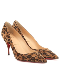 Clare 80 printed suede pumps