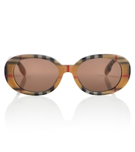 Vintage Check oval sunglasses