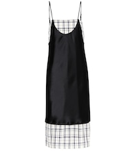 Kel Blair plaid satin sleeveless dress