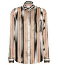 Icon Stripe silk-satin shirt