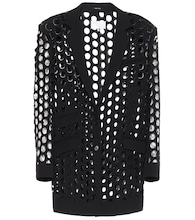 Perforated crêpe blazer