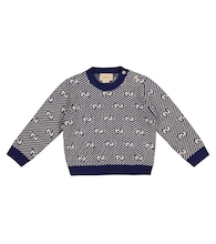Baby GG jacquard wool sweater