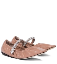 Gai embellished leather ballet flats