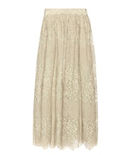 Metallic lace skirt