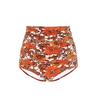 Floral high-rise bikini bottoms