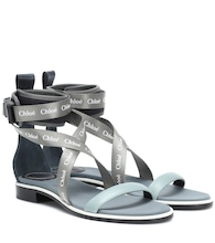 Veronica leather-trimmed sandals