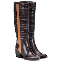 Vinny embossed leather boots