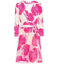 Irina printed silk wrap dress