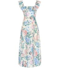 Verity floral linen dress