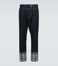 Madras checked pants
