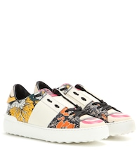 Valentino Garavani Open printed leather sneakers