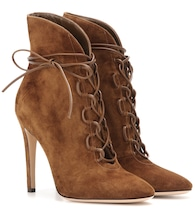 Empire lace-up suede ankle boots