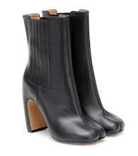 Tabi leather ankle boots