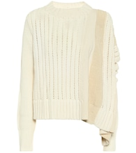 Asymmetric wool sweater
