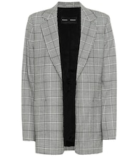 Novelty checked stretch-wool blazer