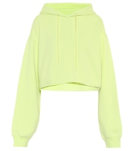 Bae cropped cotton-blend fleece hoodie