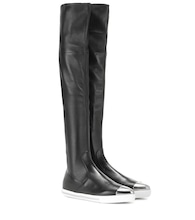 Leather over-the-knee boot