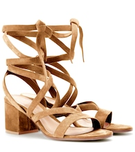 Janis Low suede sandals
