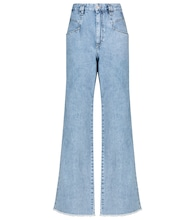 Dilesqui high-rise wide-leg jeans