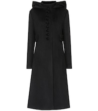 Hooded wool coat