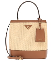 Panier Medium straw shoulder bag