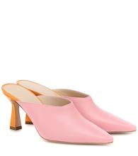 Lotte leather mules
