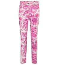 Paisley high-rise skinny jeans