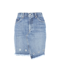 Dive embellished denim miniskirt