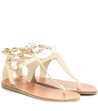 Asimina Shells leather sandals