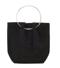 Flat Micro Circle suede tote