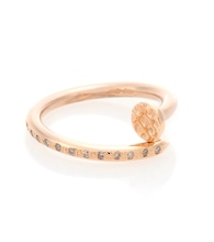18kt gold Big Nail ring with diamonds